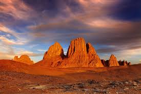 Snow In Sahara Sunset In Sahara Desert Hoggar Mountains Algeria 1600x1066