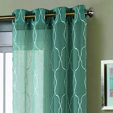 Extra Wide Panel Curtains Window Elements Boho Embroidered Faux Linen Sheer Extra Wide 108 X