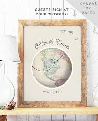 wedding guest sign in book globe guest book alternative travel wedding guest book map
