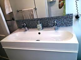 trough sink two faucets undermount trough bathroom sink with two faucets astechnologies info