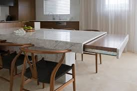 Exp Andable Table With Extension Table Kitchen Contemporary And - Dining table with hidden chairs