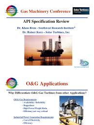 api spec review gas turbine natural gas