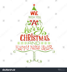 we wish you merry happy stock vector 225177112