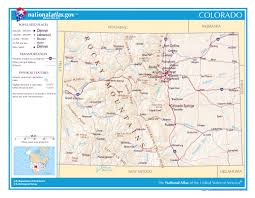 Images Of The Usa Map by Large Detailed Map Of Colorado With Cities And Roads Georgia Usa
