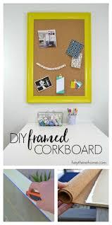 diy framed corkboard for the office