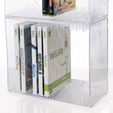 Dvd Storage by Amazon Com Stackable Clear Plastic Dvd Holder Holds 14 Standard