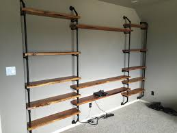 Black Pipe Shelving by Iron Pipe Entertainment Center 3 4