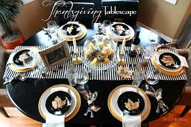 white thanksgiving thanksgiving tablescape black white gold natural elements