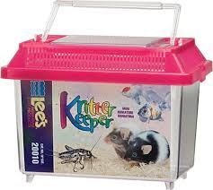 amazon com lee u0027s kritter keeper mini rectangle w lid colors