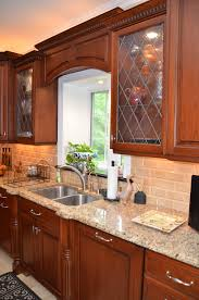 leaded glass cherry kitchen wall new jersey by design line kitchens