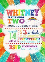 rainbow birthday invitations marialonghi com