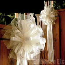 pew bows for wedding tulle bows search soon to be mrs owens