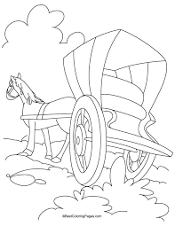 horse cariage coloring page 5 download free horse cariage