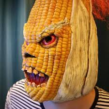angry mr old corn creative halloween mask u2013 block of gear