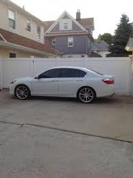 2013 honda accord with 20 inch rims 20 inch ace convex on 14 wop sport stock suspension drive