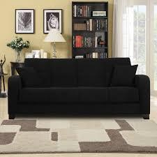 Microfiber Sleeper Sofa Home Design Curious Black Microfiber Sofa Fancy Black