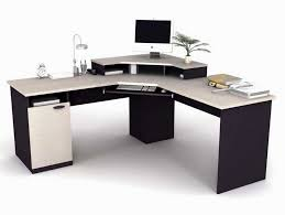 White Wood Computer Desk Corner Black And White Wooden Computer Desk With Smaller Shelf