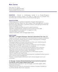 management objectives resume sample career objectives resume