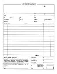 Estimate Sheet Templates by Estimate Form Template Virtren Com Auto Repair Download Roofing