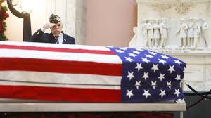 Ohio State House Flag John Glenn Lies In Repose In Ohio As Public Begins To Say Goodbye