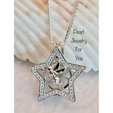 fairy pendant necklace images Tinkerbell fairy shape freshwater pearl bead cage locket pendant jpg