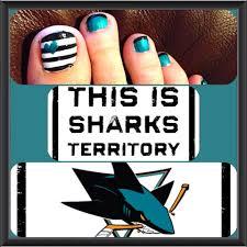 san jose sharks nails nails pinterest san jose sharks mani