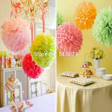 aliexpress buy 10pcs solid paper decoration pom poms 8 20