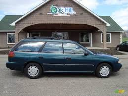 subaru wagon 1995 spruce green pearl metallic subaru legacy l wagon 12861117