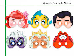 unique mermaid printable masks by holidaypartystar on zibbet