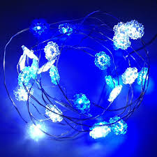 snowflake string of lights led snowflake string lights with adapter with bendable copper wire