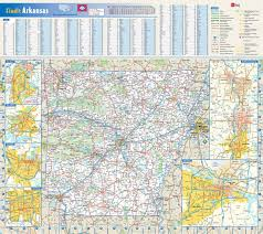 America Map With States by Detailed Roads And Highways Map Of Arkansas State With National
