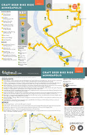 Bike Map Chicago by Craft Beer Bike Ride Minneapolis U2014 Bikabout