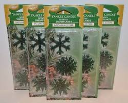 lot of 5 yankee candle balsam cedar scented snowflakes tree