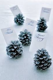 simple details diy glitter pine cone place card holder