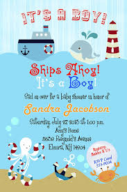 Shrimant Invitation Card Amazon Com Nautical Baby Shower Invitations Toys U0026 Games