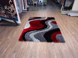 Black And Red Shaggy Rugs Black Grey With Red Shag Area Rug By Rugaddiction Com Rug Addiction