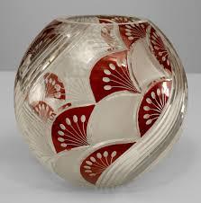 Czechoslovakia Vase Art Deco Continental Glass Vase Czechoslovakia Design Art Deco