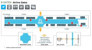 denver terminal b map denver international airport terminal maps for transportation