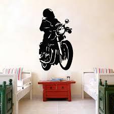 compare prices on wall sticker club online shopping buy low price art vinyl sticker motorcycle motorbike biker club mural boys children s room wall sticker diy vinyl kids
