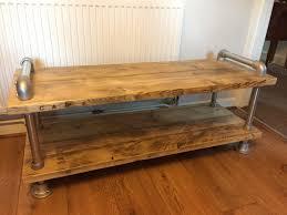wood plank coffee table scaffold board plank coffee table tv stand urban industrial