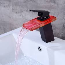 Bathroom Waterfall Faucet by Online Get Cheap Black Waterfall Faucet Led Aliexpress Com