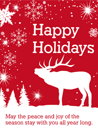 white reindeer happy holidays card birthday greeting cards by davia