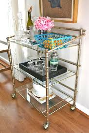 How To Decorate A Table How To Decorate A Vintage Bar Cart Modern Wall Sconces And Bed Ideas