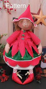 sewing patterns christmas elf pixie elf doll pdf e sewing pattern primitive raggedy christmas