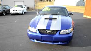 Blue Mustang Black Stripes 2003 Blue Mustang V6 Coupe With Silver Stripes For Sale 5295