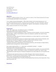 bookkeeper cover letter example 100 resume templates for no job