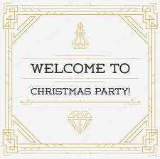 vintage invitation to christmas eve party u2014 stock vector ckybe