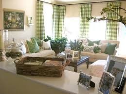 Green Curtains For Living Room by Buffalo Check Curtains In Living Room Traditional With Green