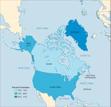 Map Of North America And Canada by North America Operation World