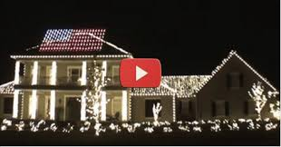 American Flag Christmas Lights He Put Red And Blue Christmas Lights On A House Now Watch The